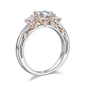 Solid 925 Sterling Silver Wedding Vintage Style Ri